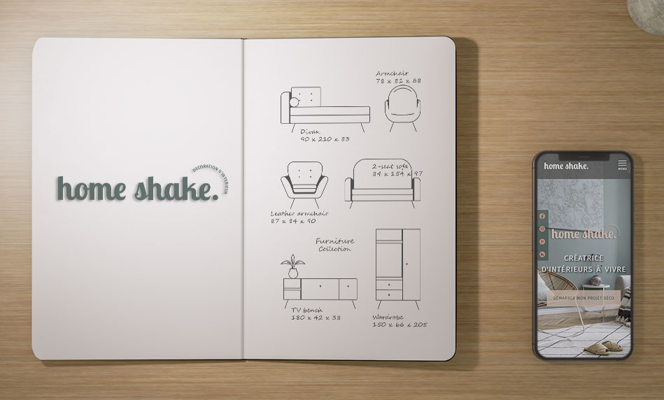 Home Shake - site web - mobile - accueil